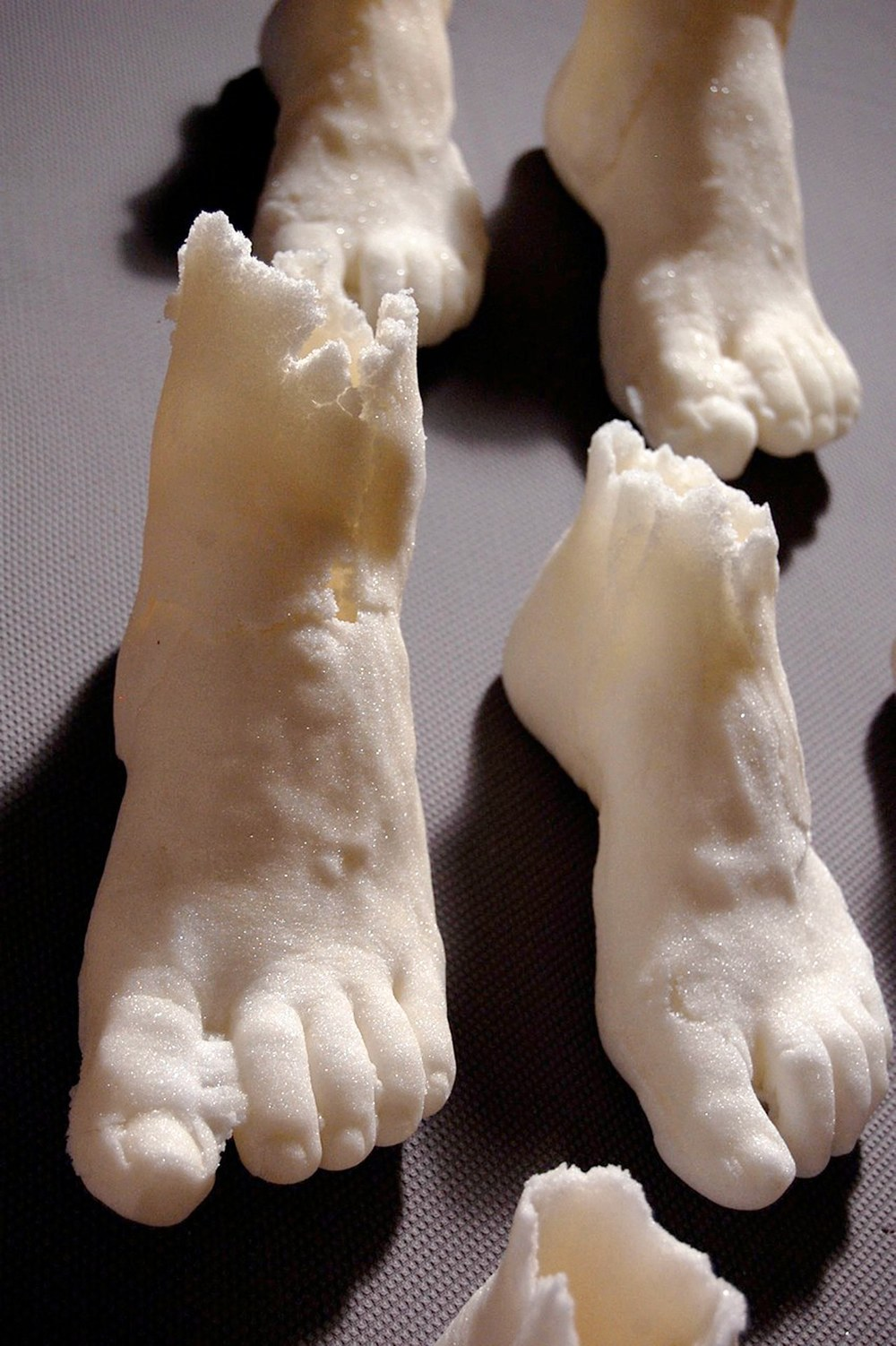 Lynne-Rachel Altman Phantom Sugar Feet, 2013 pressed sugar size variable