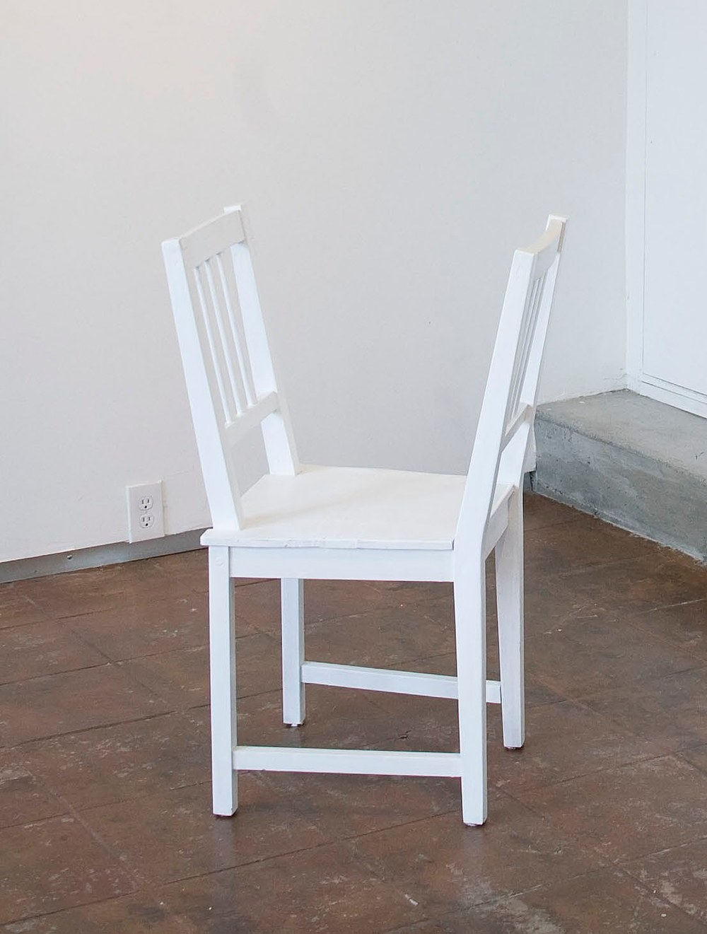 Sheila Ghidini Reflection, 2012 reassembeled chairs 36 x 17 x 16 inches