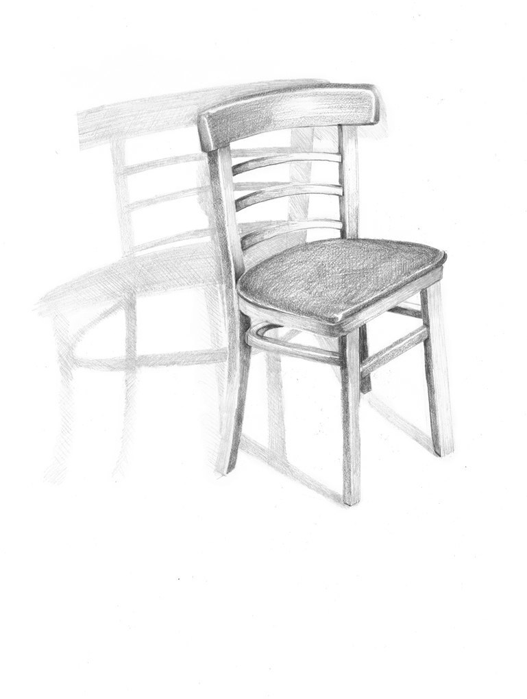 Sheila Ghidini Chair 3, 2012 graphite on paper 17 x 14 inches