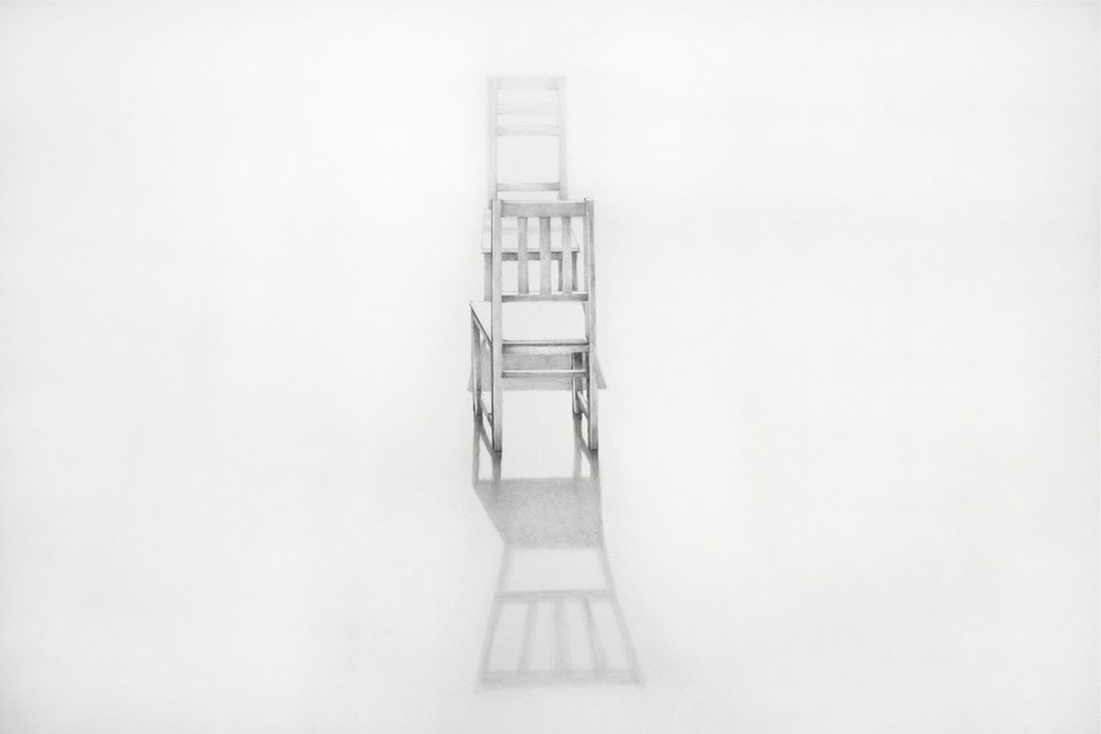 Sheila Ghidini Conversation 1, 2013 graphite on paper 23 x 29 inches