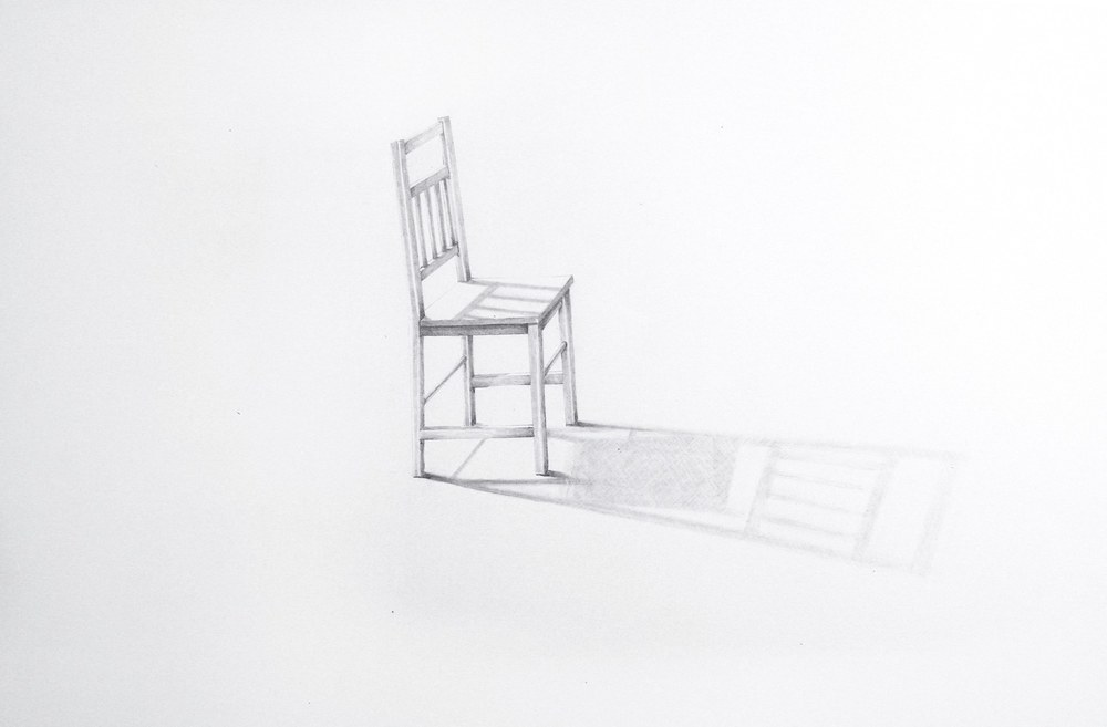 Sheila Ghidini One Chair, 2013 graphite on paper 23 x 29 inches