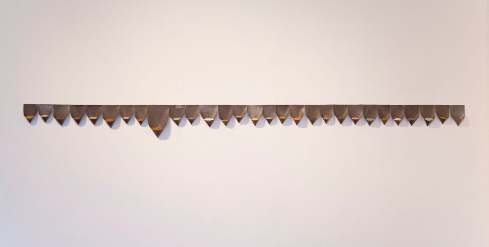 Mari Andrews Collected Topography, 2012 lead, soil dimensions variable