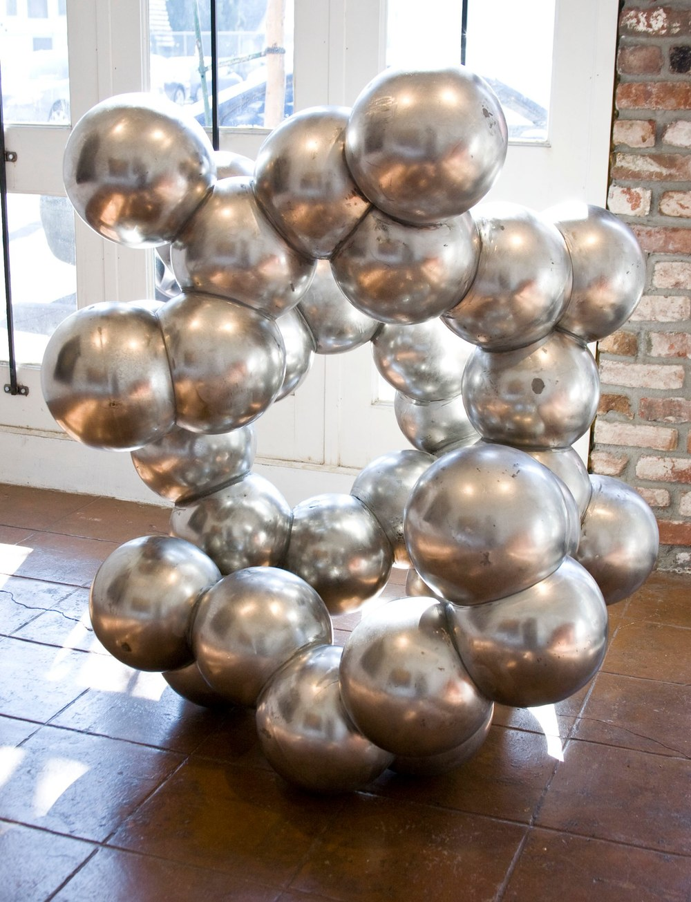 Randy Colosky Another Shape of Things to Come Part 4, 2012 stainless steel 42 x 45 x 48 inches