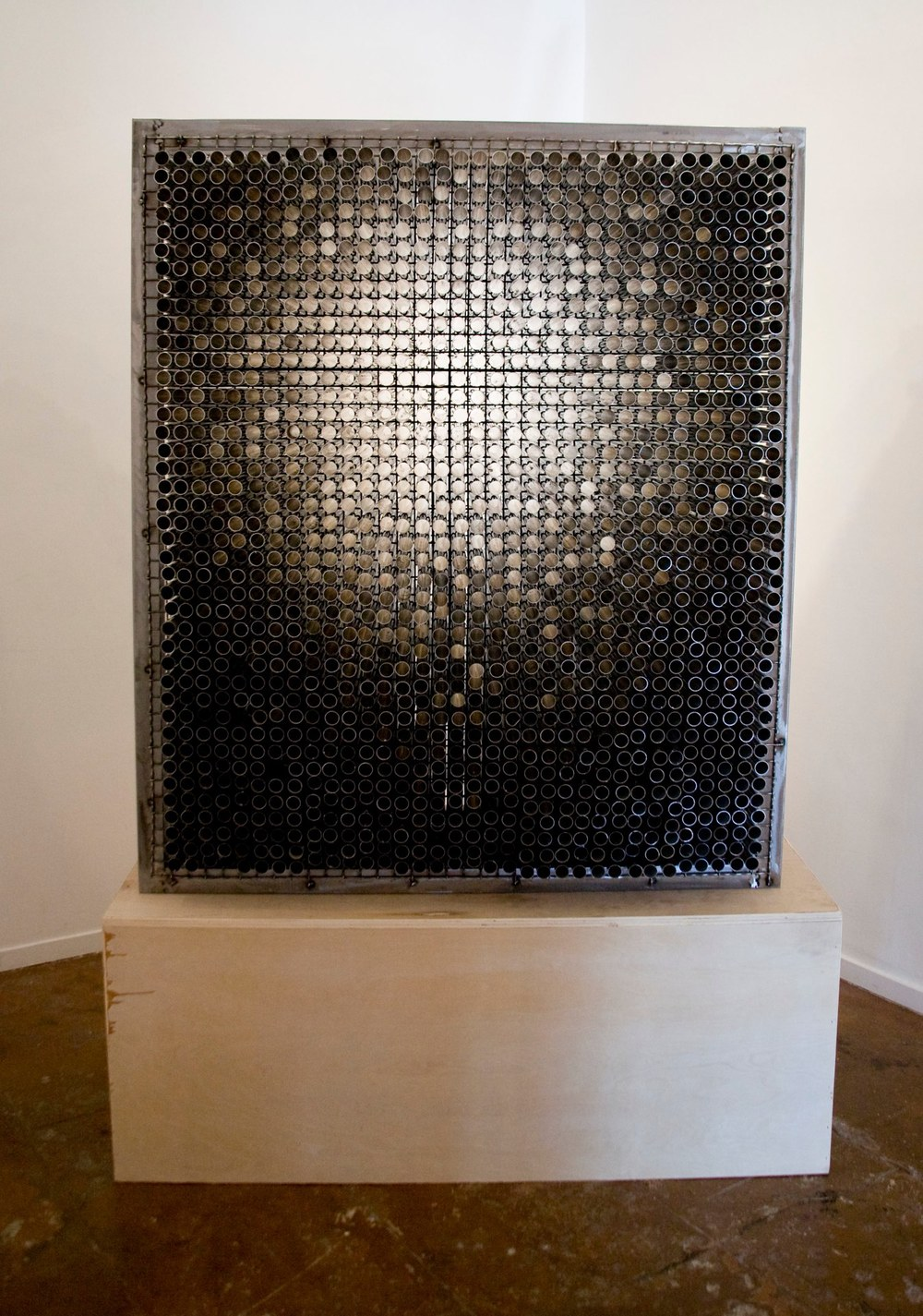 Randy Colosky Ghost in the Machine, 2013 stainless steel 47 x 26 x 56 inches