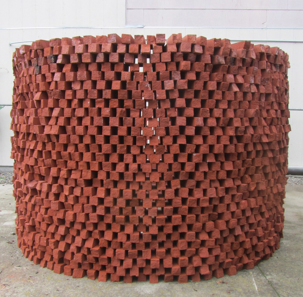 Randy Colosky A Hollow Gesture, 2012 custom size bricks 5' high x 7' diameter circle