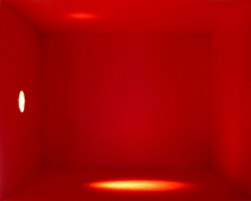 Amy M. Ho Red II, 2012 Duratrans print 24 x 30 x 4 inches