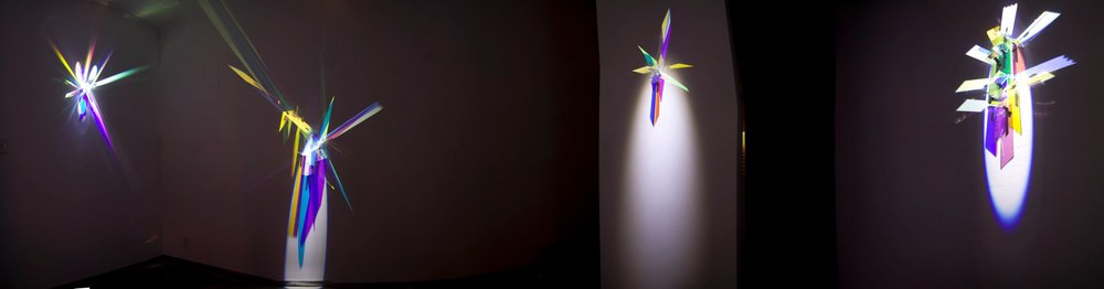 Cathy Cunningham-Little Installation View, 2012 glass, light, stainless steel