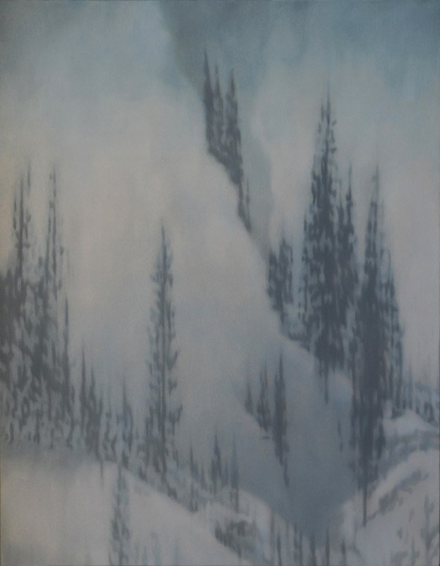 Holly Williams Avalanche Blue, 2012 oil on panel  46 x 36 inches