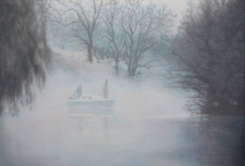 Holly Williams Ghost Boat, 2012 oil on panel 15 x 20 inches