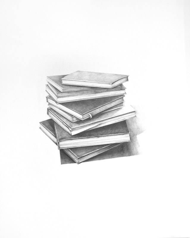 "Sheila Ghidini Journals 2002-04, 2012 graphite on paper 28"" x 20"