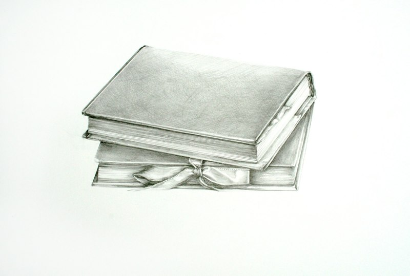 Sheila Ghidini Two Books of poetry in Brooklyn, 2011 graphite on paper 14 x 17inches