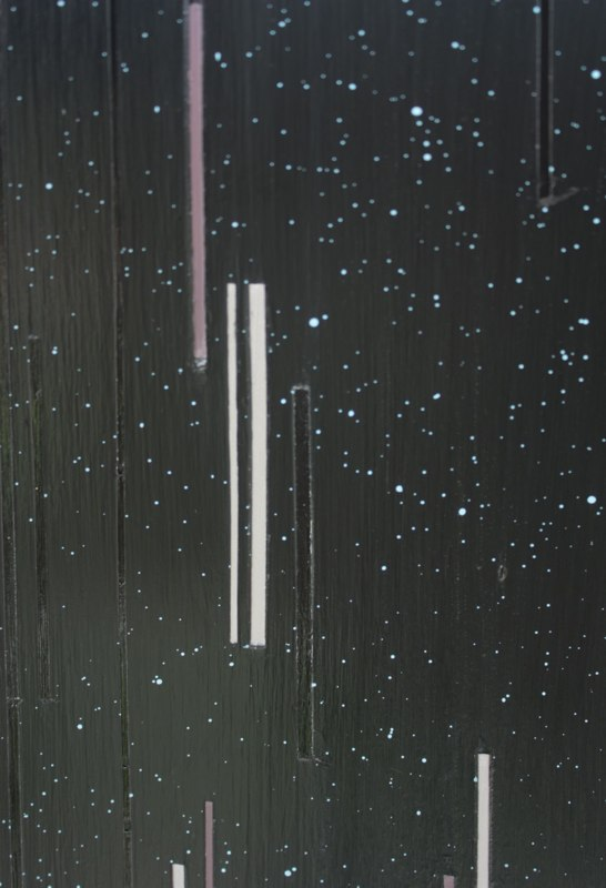 Brian Caraway Space Dust Pirates (Black Plastic), (detail) 2012 acrylic on panel 39 x 40.5 inches