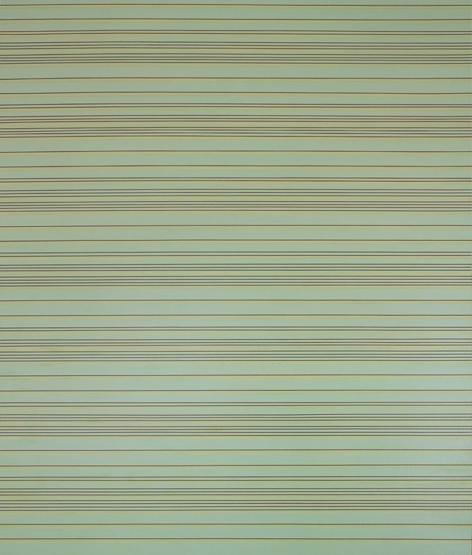 Brian Caraway Spacetime Fabric, 2012 acrylic on panel 48 x 42 inches