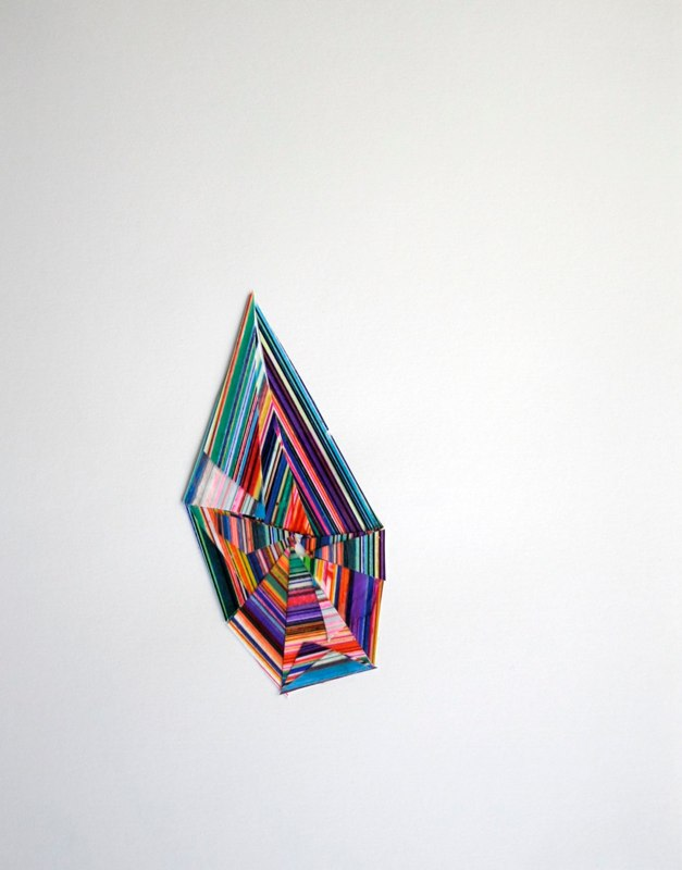 David Allan Peters #14d, 2012 collage on paper 14 x 11 inches