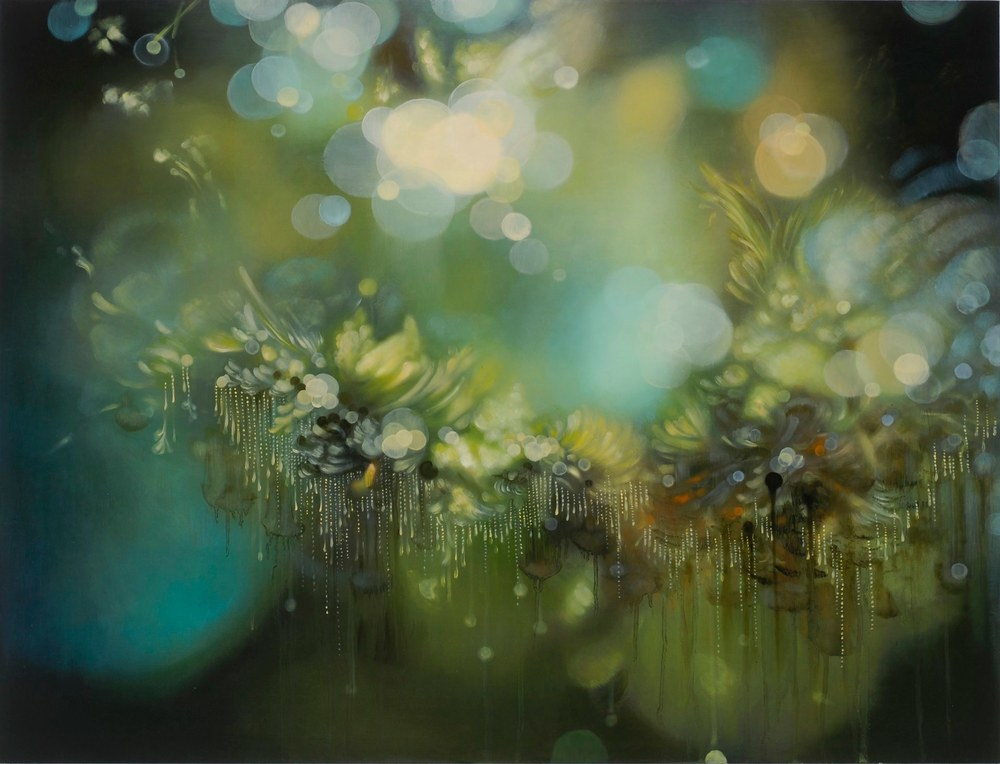 Jenn Shifflet Anicca, 2011 acrylic and oil on panel 32 x 42 inches