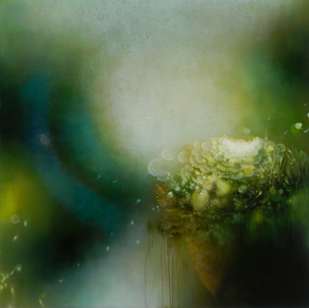 Jenn Shifflet Verdant Arising, 2011 acrylic and oil on panel 36 x 36 inches