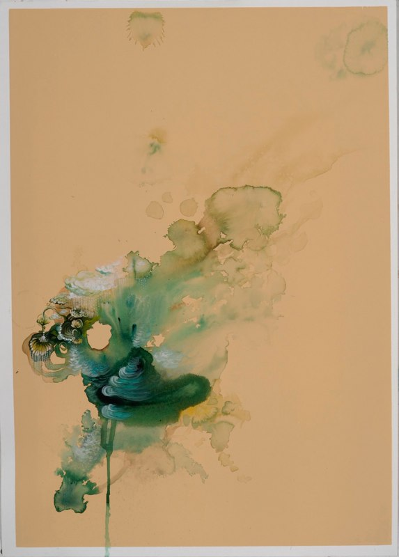 Jenn Shifflet Free Flow One, 2010 acrylic, ink and watercolor on paper 27.5 x 19.75 inches