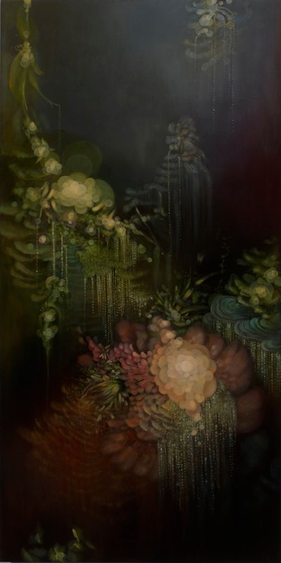 Jenn Shifflet Almost Unseen, 2011 acrylic and oil on wood panel 48 x 24 inches