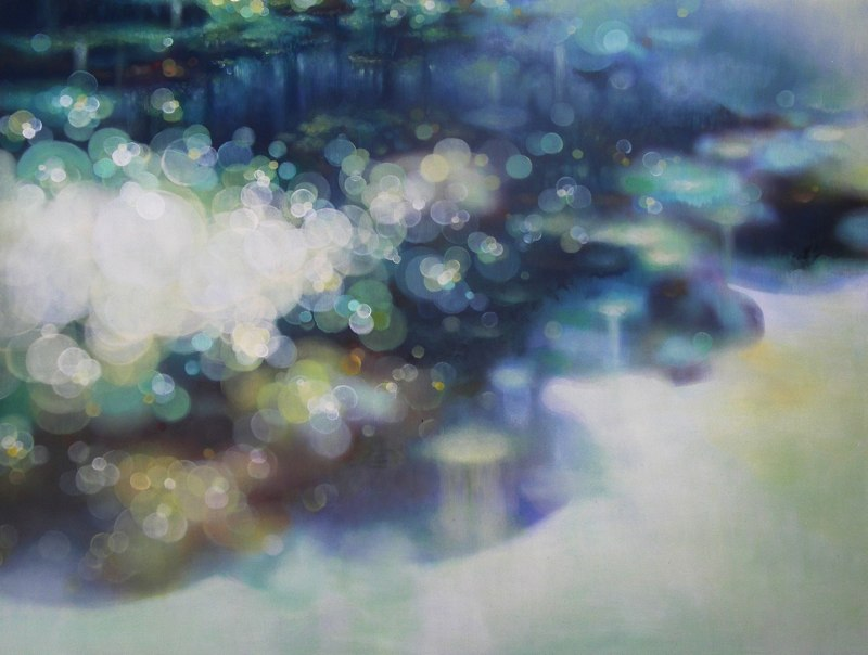 Jenn Shifflet Adrift, 2011 oil and acrylic on wood panel 32 x 42 inches