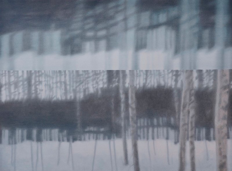 Holly Williams Double Forest, 2010 oil on panel 43 x 58 x 2 inches