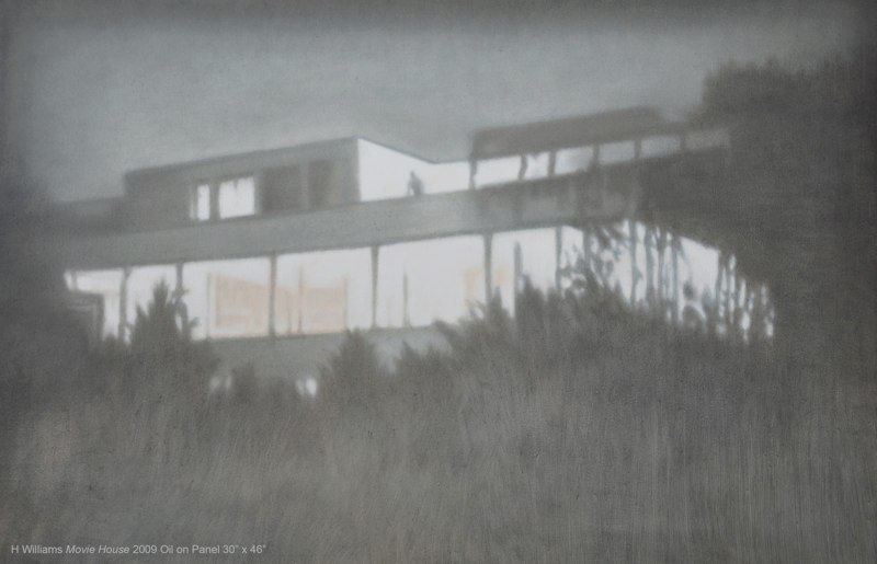 Holly Williams Movie House, 2009 oil on panel 30 x 46 x 2 inches