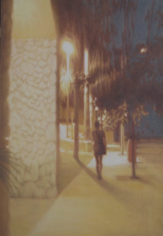Holly Williams Noctourne Gold, 2011 oil on panel 48 x 33 inches