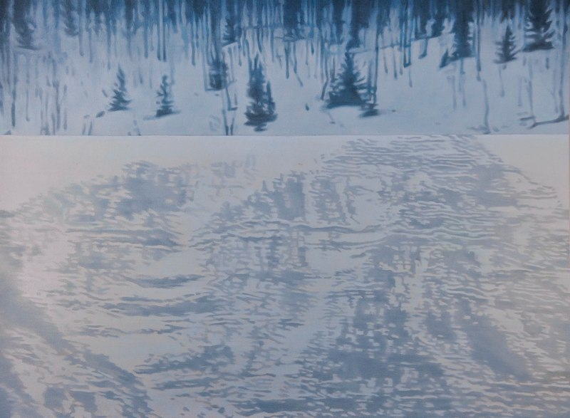 Holly Williams Summit, 2010  oil on panel 43 x 58 x 2 inches