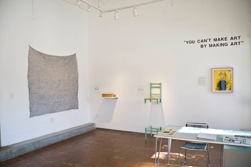 You Can't Make Art By Making Art Installation View