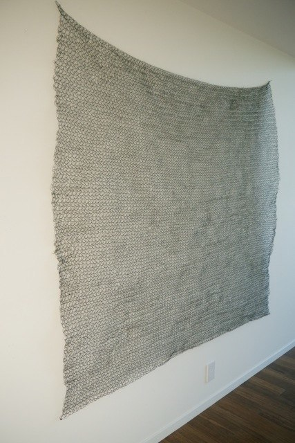 Sabine Reckewell Square # 17, 1979 crocheted wire 70 x 72 inches