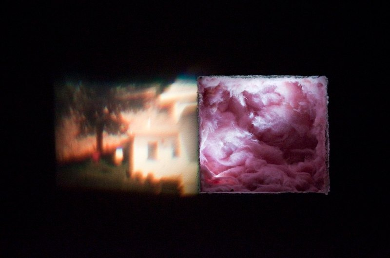 Alexa Kay Alexander Home Projection, 2010 35mm slide projection 7 x 14inches