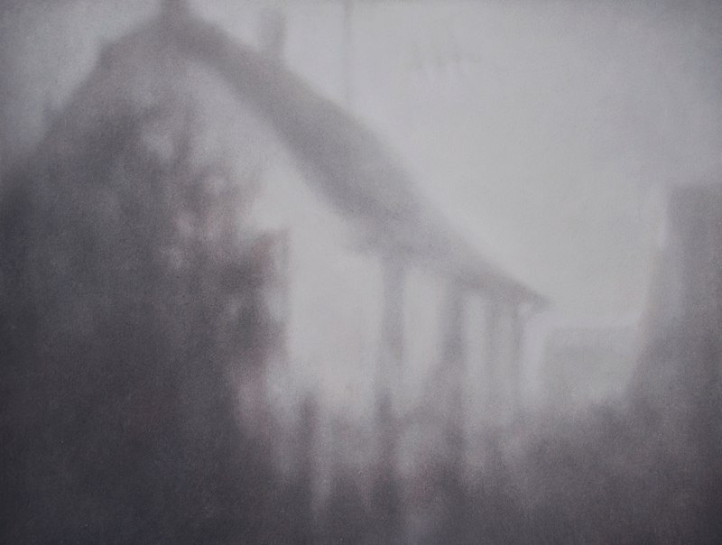 Holly Williams Phantom House, 2008 oil on panel 22 x 29 inches