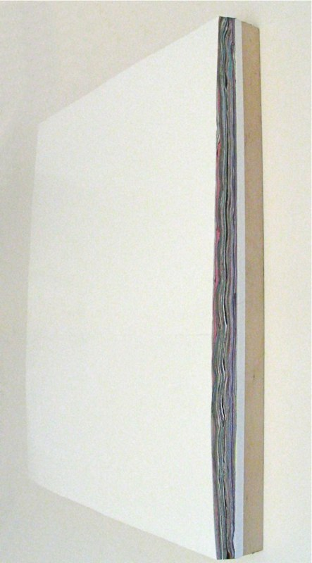 David Allan Peters Untitled #8, (side view) 2010 acrylic on panel 14 x 11 inches