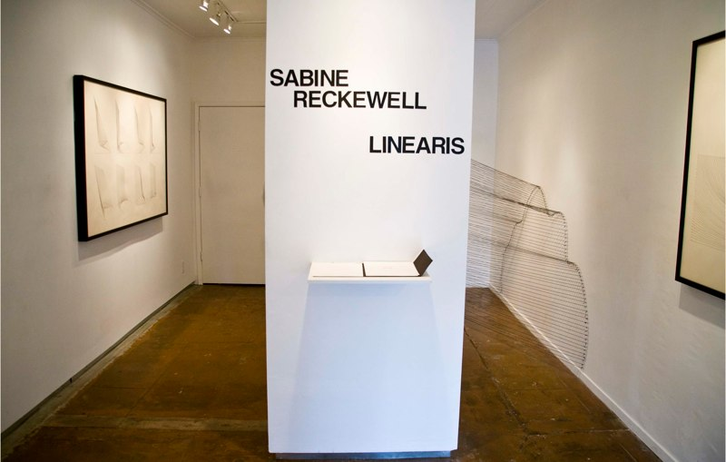 Sabine Reckewell Linearis, Installation View, 2011.
