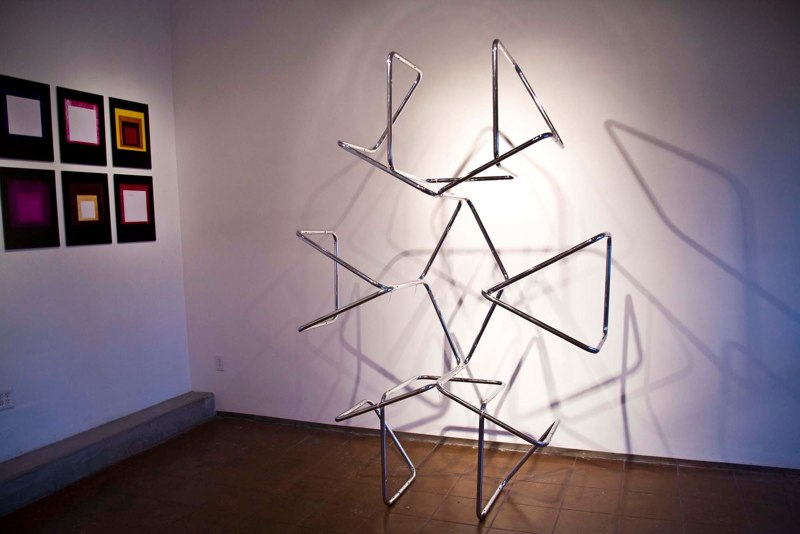 Jonathan Runcio Untitled (Stam v.2), 2010 Found chair parts and zip ties 108 x 76 x 24 inches
