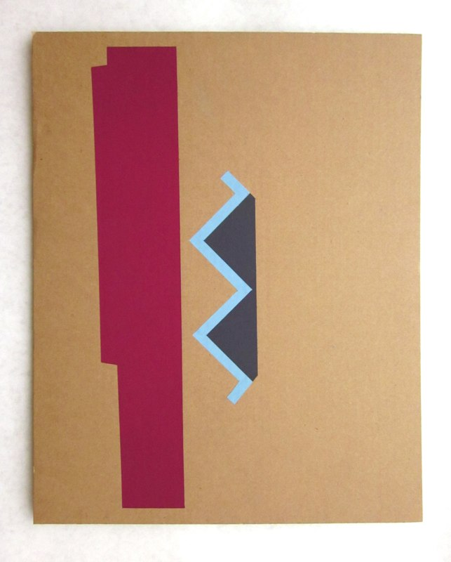 Jonathan Runcio Untitled (Awning), 2010 Goache on cardboard 16 x 12 1/2 inches