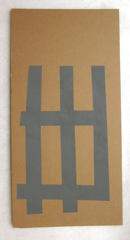 Jonathan Runcio Untitled (Park), 2010 Goache on cardboard 24 x 12 inches