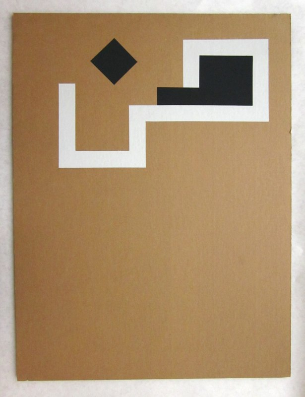 Jonathan Runcio Untitled (Vet), 2010 Goache on cardboard 24 x 18 inches