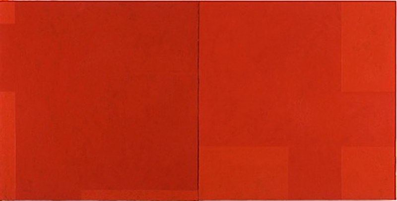 Macyn Bolt Red Pivot, 2010 acrylic on wood 22 x 44 inches