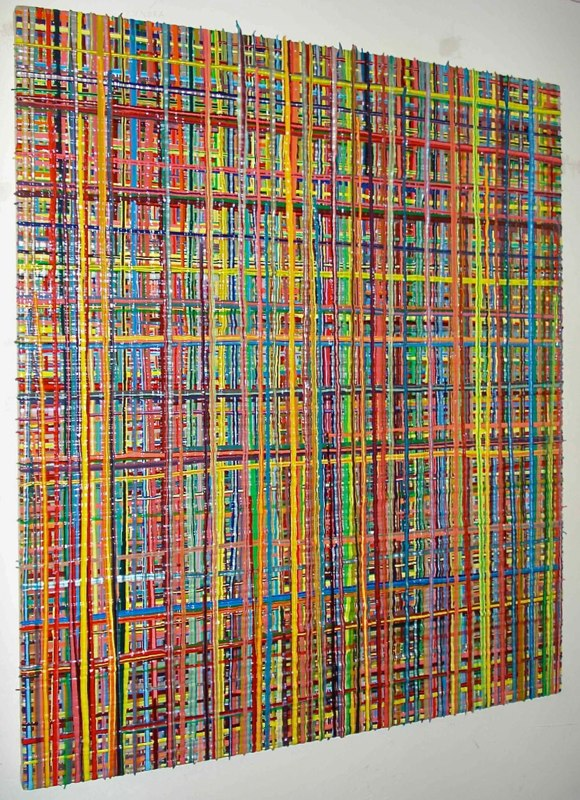 Omar Chacón, Jr. Untiltled, 2008 acrylic on canvas 57 x 48 inches