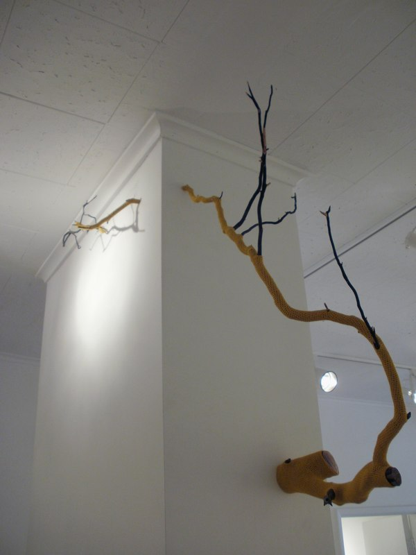 Esther Traugot Branch 2, 2010 branch, hand-dyed bamboo thread 37 x 37 x 19 inches