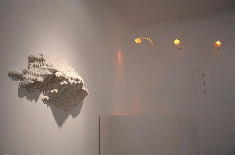 Kana Tanaka Spirit of Camelback, 2010, Models, glass, light and photographs for the Scottsdale Center for Performing Arts, Scottsdale, Arizona