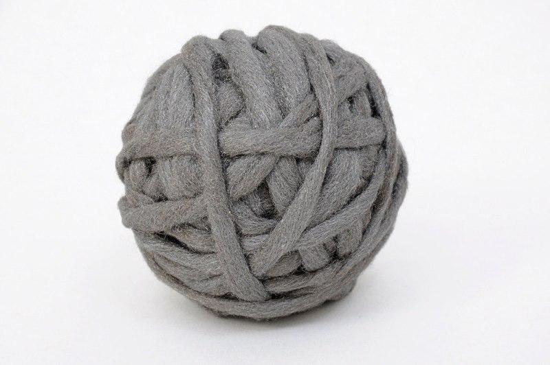 Mari Andrews.Ball for David, 2011,steel wool,4 inches diameter