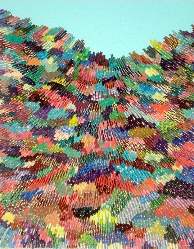 Omar Chacón, Jr. LA ENEA CCXVIII, 2010 acrylic on canvas 24 x 20 inches