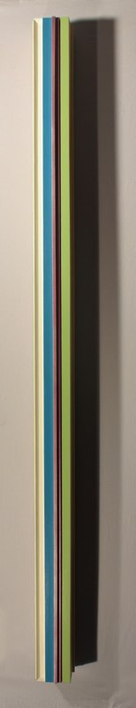 Sunday Monday Tuesday Wednesday Thursday Friday Saturday, Love, 2012, polychrome wood, 71 x 4 x 4 inches