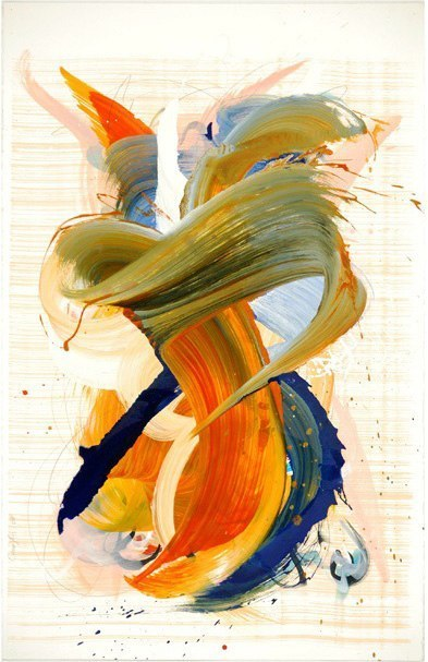 On the Road to Life's Last Act, 2007 oil on paper 40 x 26 inches