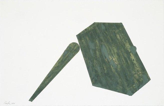 Concrete, 2010, oil on paper, 26 x 40 inches