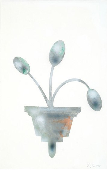 Experience, 2010, oil on paper, 40 x 26 inches