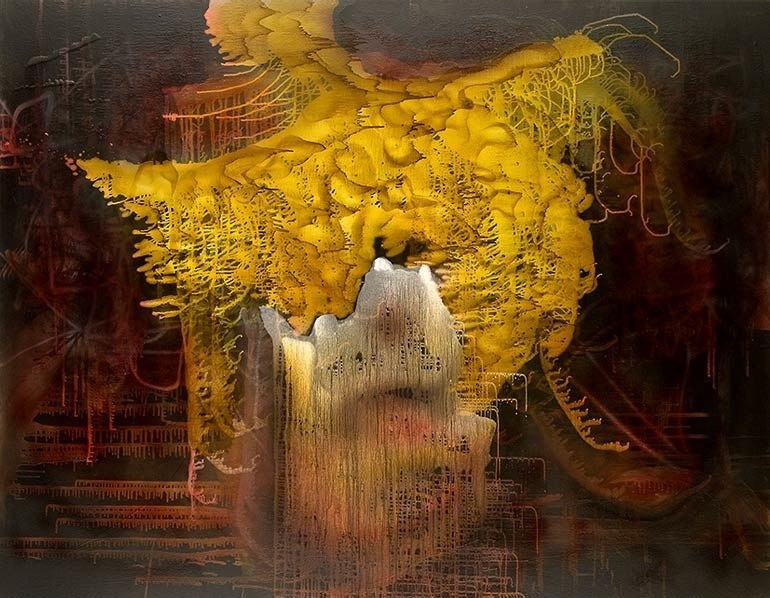 Soul Blind, 2011, oil on canvas, 63 x 81 inches