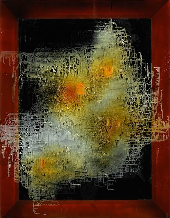 Utterance, 2011, oil on canvas, 81 x 63 inches
