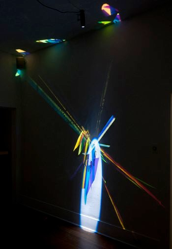 VVC1, 2012, glass, light, stainless steel, 120 x 120 x 5 inches